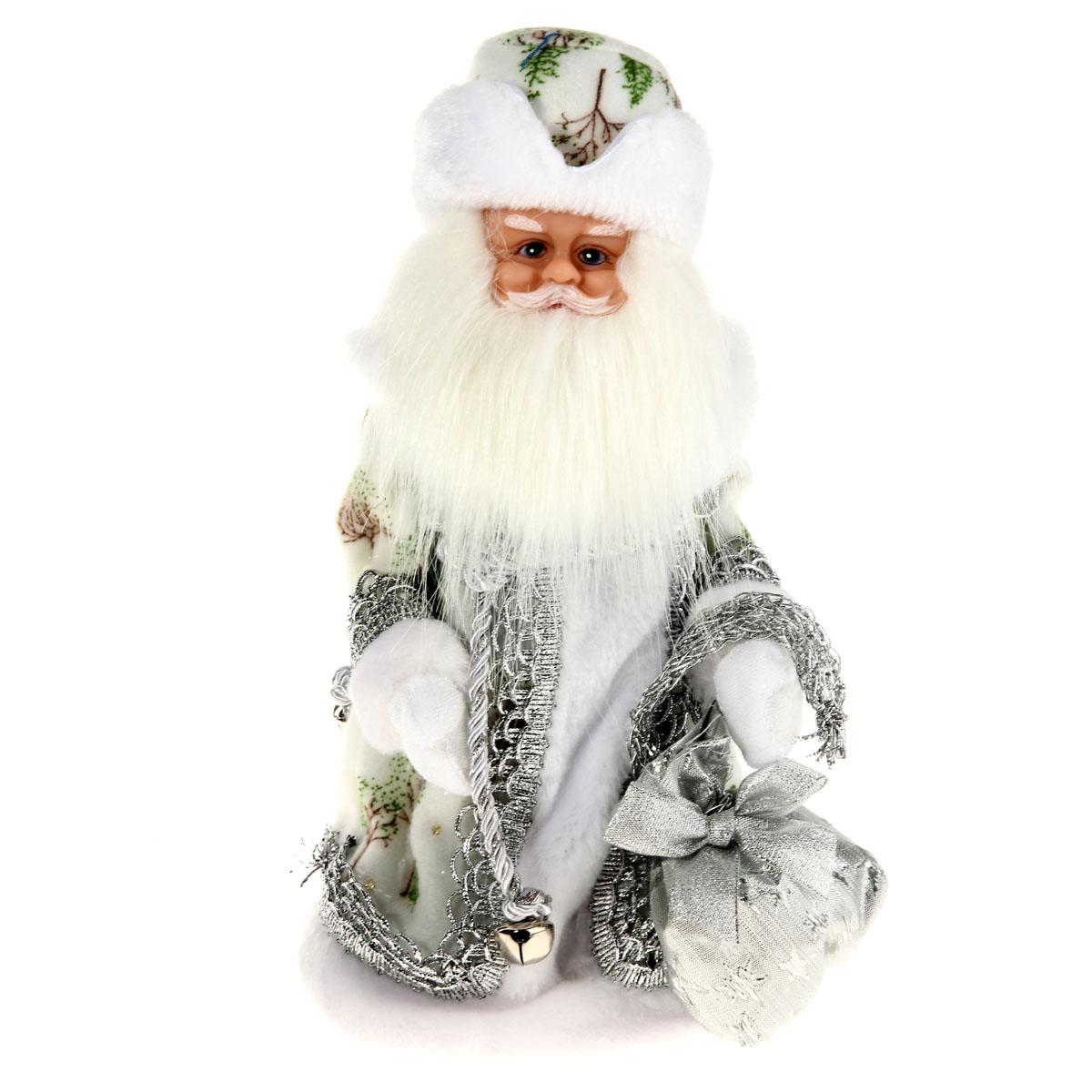 Новогодняя декоративная фигурка Sima-land Дед Мороз, анимированная, высота 28 см. 827841C0038550Новогодняя декоративная фигурка выполнена из высококачественного пластика в виде Деда Мороза. Дед Мороз одет в шубу с опушкой, украшенную тесьмой и блестками. На голове шапка в цвет шубы. В руке Дед Мороз держит мешок с подарками. Фигурка стоит на подставке. Особенностью фигурки является наличие механизма, при включении которого играет мелодия, а голова и руки куклы начинают двигаться. Его добрый вид и очаровательная улыбка притягивают к себе восторженные взгляды. Декоративная фигурка Дед Мороз подойдет для оформления новогоднего интерьера и принесет с собой атмосферу радости и веселья. УВАЖАЕМЫЕ КЛИЕНТЫ!Обращаем ваше внимание на тот факт, что декоративная фигурка работает от трех батареек типа АА напряжением 1,5V. Батарейки в комплект не входят.