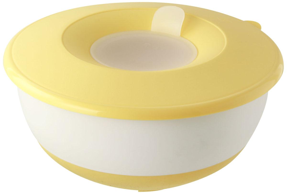 Форма для замешивания теста Dr.Oetker с крышкой, цвет: желтый, 3,2 л54 009312Форма Dr.Oetker изготовлена из пищевого пластика и предназначена для замешивания теста. Изделие оснащено плотно прилегающей крышкой с отверстием под миксер. Внешняя сторона имеет прорезиненную поверхность, что предотвращает выскальзывание из рук. С такой формой процесс замешивания станет еще более удобным и быстрым. Форма станет прекрасным подарком как для себя, так и для ваших близких.