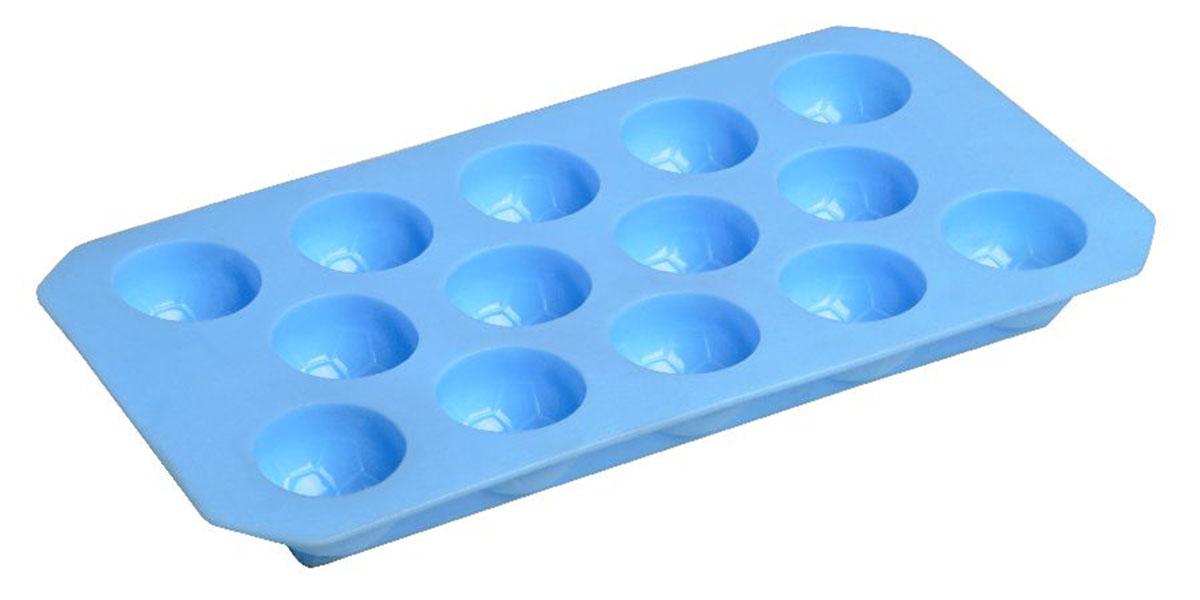 Форма для льда Fackelmann, 12 ячеек, цвет: синийVT-1520(SR)Форма для льда Fackelmann выполнена из мягкого пластика. На одном листе расположено 12 формочек. Благодаря тому, что формочки изготовлены из мягкого материала, готовый лед вынимать легко и просто. Чтобы достать льдинки, эту форму не нужно держать под теплой водой или использовать нож.Теперь на смену традиционным квадратным пришли новые оригинальные формы для приготовления фигурного льда, которыми можно не только охладить, но и украсить любой напиток. В формочки при заморозке воды можно помещать ягодки, такие льдинки не только оживят коктейль, но и добавят радостного настроения гостям на празднике! Размер формы: 22 см х 11 см х 2 см.Компания Fackelmann была основана в 1948 году и в настоящее время является крупнейшим мировым поставщиком товаров для дома. В ассортименте компании найдутся товары для самых разных покупателей. Продукция Fackelmann выполнена из различных комбинаций металла - нержавеющей, хромированной, никелированной и луженой стали, светлого и темного дерева - бука и сосны, пластмассы, акрила, прозрачного, матового и цветного стекла. С продукцией Fackelmann ваш дом станет красивее, уютнее и намного удобнее!УВАЖАЕМЫЕ КЛИЕНТЫ!Обращаем ваше внимание на возможные изменения в дизайне фигурок и цвете формы, связанные с ассортиментом продукции. Поставка осуществляется в зависимости от наличия на складе.
