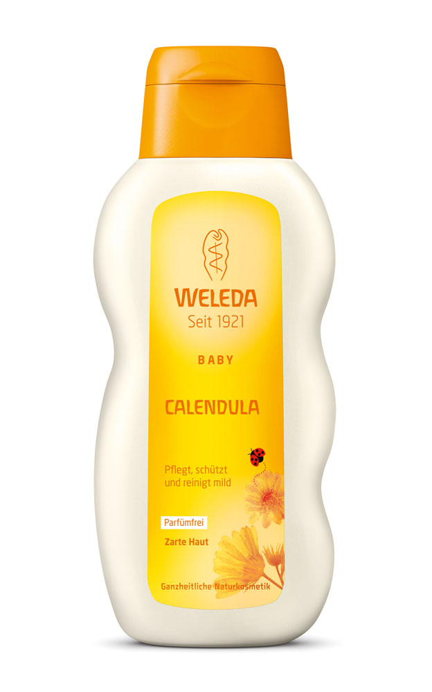 Weleda Масло для тела Baby, с календулой, без аромата, 200 мл9656Масло с календулой Weleda обладает успокаивающими, защитными и питающими свойствами, а благодаря наличию кунжутного масла приобретает согревающий для кожи эффект. Масло рекомендуют для защиты нежной кожи малышей, так как все компоненты продукта стимулируют естественные функции кожи. Масло изготавливают по экологически чистым технологиям из календулы, кунжутного масла и ромашки. Масло предназначено для ежедневного ухода за кожей вашего малыша, а также идеально подходит для массажа младенца и очищения кожи в области промежности.Если у вашего малыша болит животик, можете в течение нескольких минут мягкими движениями втирать в кожу животика масло календулы, двигая руку по часовой стрелке. Дополнительное тепло масла и ритмичные движения помогут кишечнику восстановить нормальный ритм работы.Товар сертифицирован.