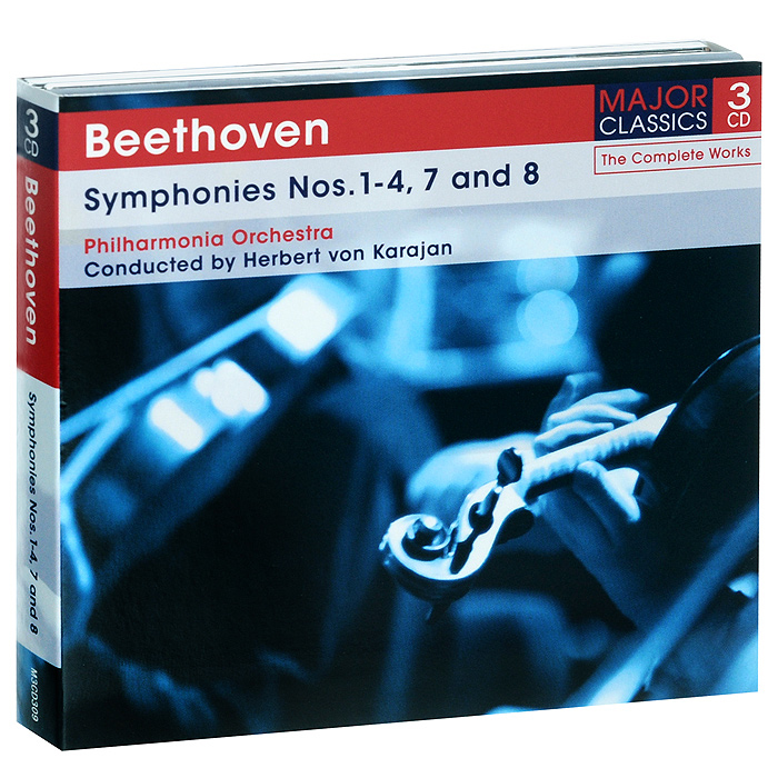 Philharmonia Orchestra,Герберт Караян Beethoven. Symphonies Nos. 1-4, 7 and 8 (3 CD) argerich maisky beethoven cello son op 69 102