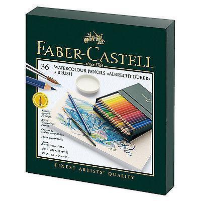 Акварельные карандаши ALBRECHT DURER®, набор цветов, в студийной (кожзам) коробке , 36 шт.117538Вид карандаша: Акварельный.Материал: дерево.