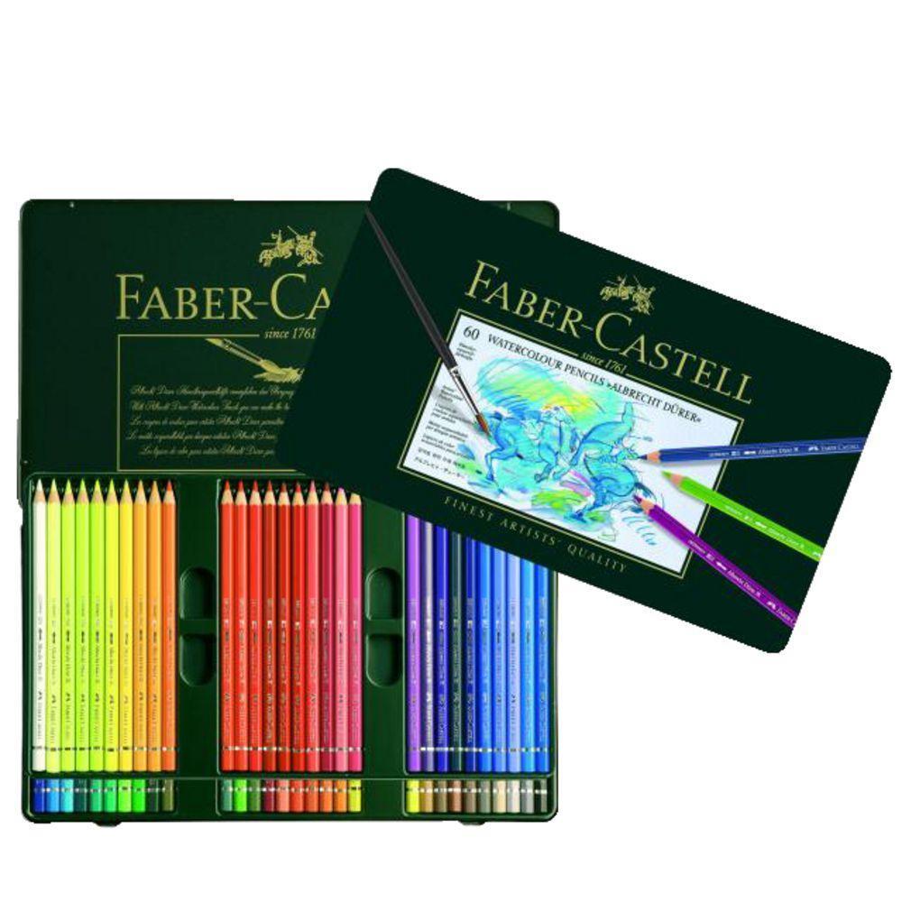 Акварельные карандаши ALBRECHT DURER®, набор цветов, в металлической коробке, 60 шт.117560Вид карандаша: Акварельный.Материал: дерево.