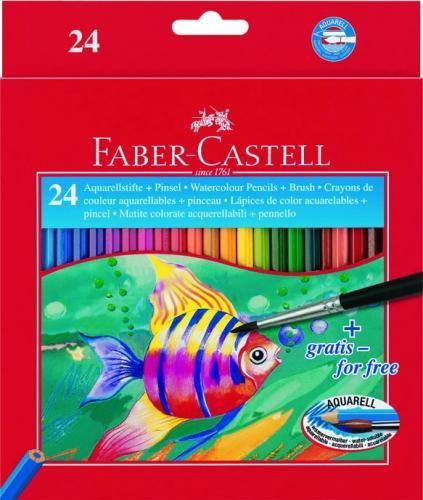 Акварельные карандаши COLOUR PENCILS с кисточкой, набор цветов,в картонной коробке, 24 шт.C13S041944Вид карандаша: Акварельный.Материал: дерево.