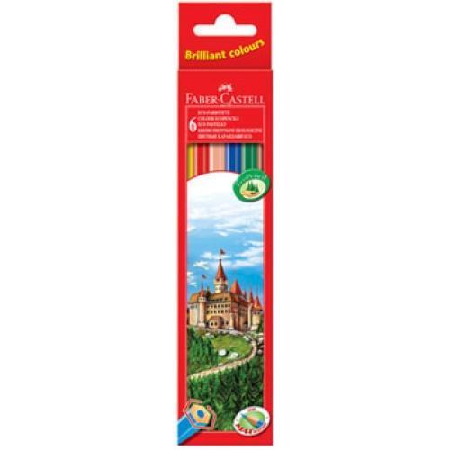 Цветные карандаши ECO ЗАМОК, набор цветов, в картонной коробке, 6 шт.72523WDВид карандаша: цветной.Материал: дерево.
