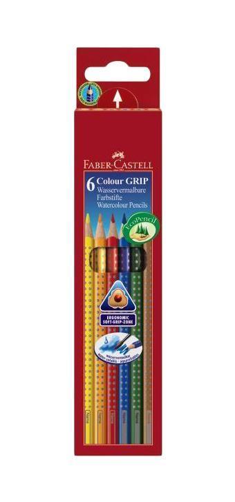 Цветные карандаши GRIP 2001, набор цветов, в картонной коробке, 6 шт.72523WDFaber Castell GRIP 2001 112406 - цветные карандаши выполнены в эргономичной трехгранной форме, имеют яркие, насыщенные цвета. Важным преимуществом является то, что данные карандаши хорошо отстирываются с большинства тканей. Вид карандаша: цветной.Материал: дерево.