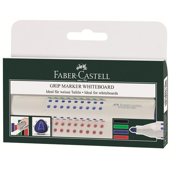 Faber-Castell Набор маркеров Grip 4 цветаFS-36054Вид маркера: Стираемый.Форма наконечника: Круг.Для какой поверхности: Маркерная доска.Назначение: Для досок.Назначение: Для рисования.Материал: пластик.