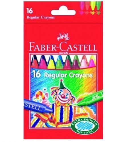 Восковые карандаши КЛОУН, набор цветов, в картонной коробке, 16 шт.120050Вид карандаша: цветной.