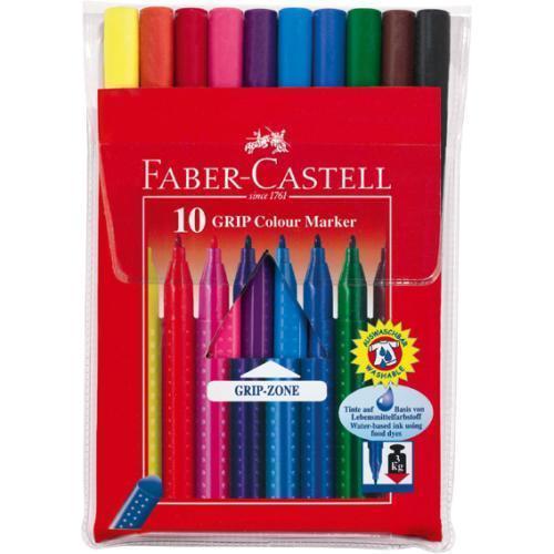 Фломастеры GRIP, набор цветов, в футляре,10 шт.FS-36052Цветные фломастеры JUMBO, набор цветов, в картонной коробке, 10 шт. Материал: пластик.