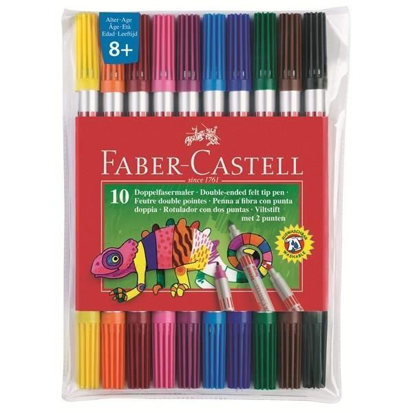 Фломастеры двухсторонние, набор цветов, в футляре.FS-36054Материал: пластик.