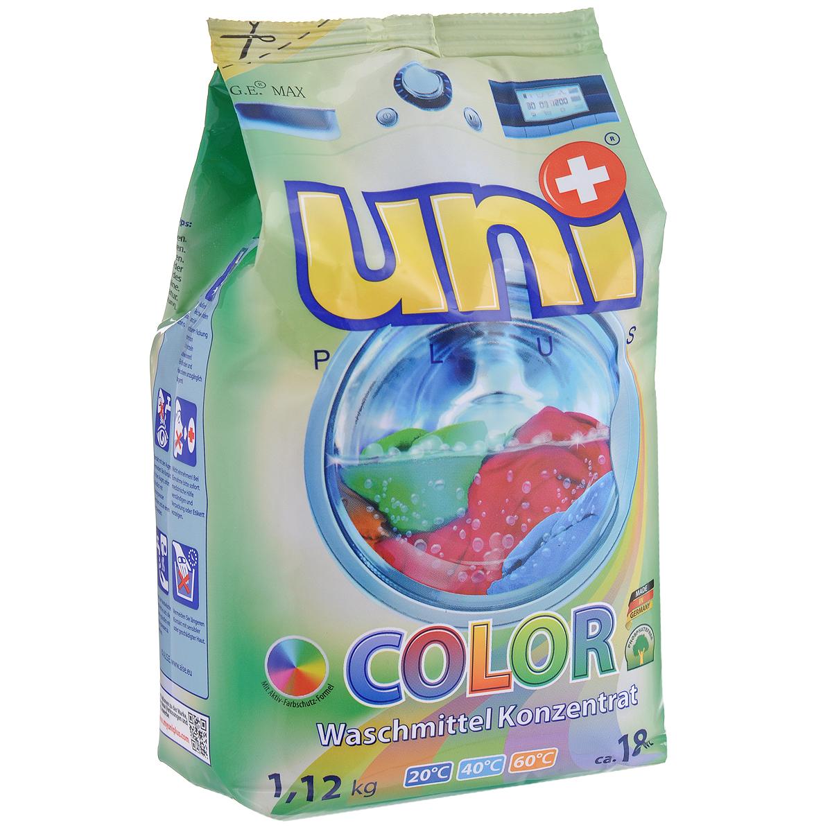 """Стиральный порошок Uniplus """"Color"""", концентрированный, 1,12 кг"""