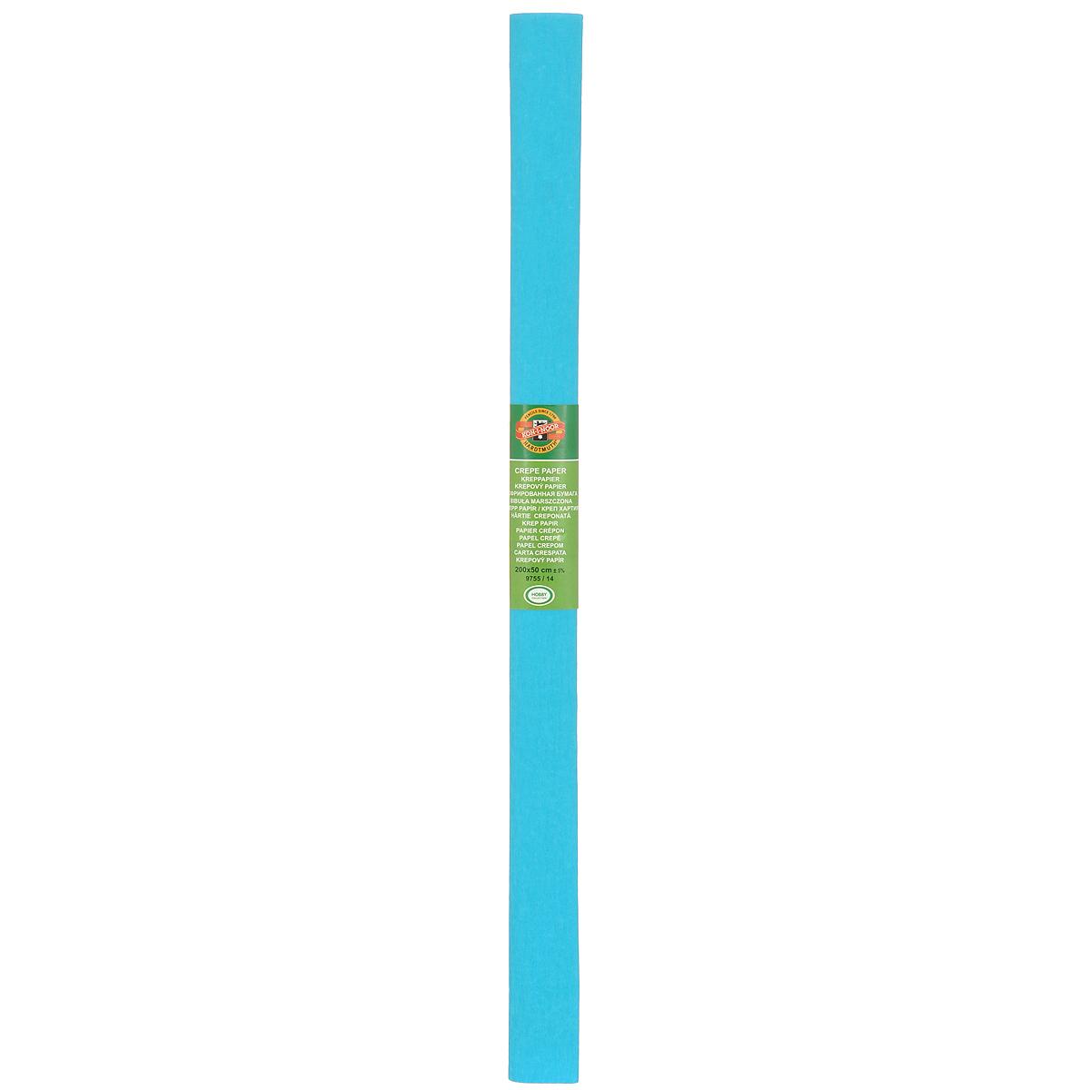 Бумага гофрированная Koh-I-Noor, цвет: голубой, 50 см x 2 м09840-20.000.00Гофрированная бумага Koh-I-Noor - прекрасный материал для декорирования, изготовления эффектной упаковки и различных поделок. Бумага прекрасно держит форму, не пачкает руки, отлично крепится и замечательно подходит для изготовления праздничной упаковки для цветов.