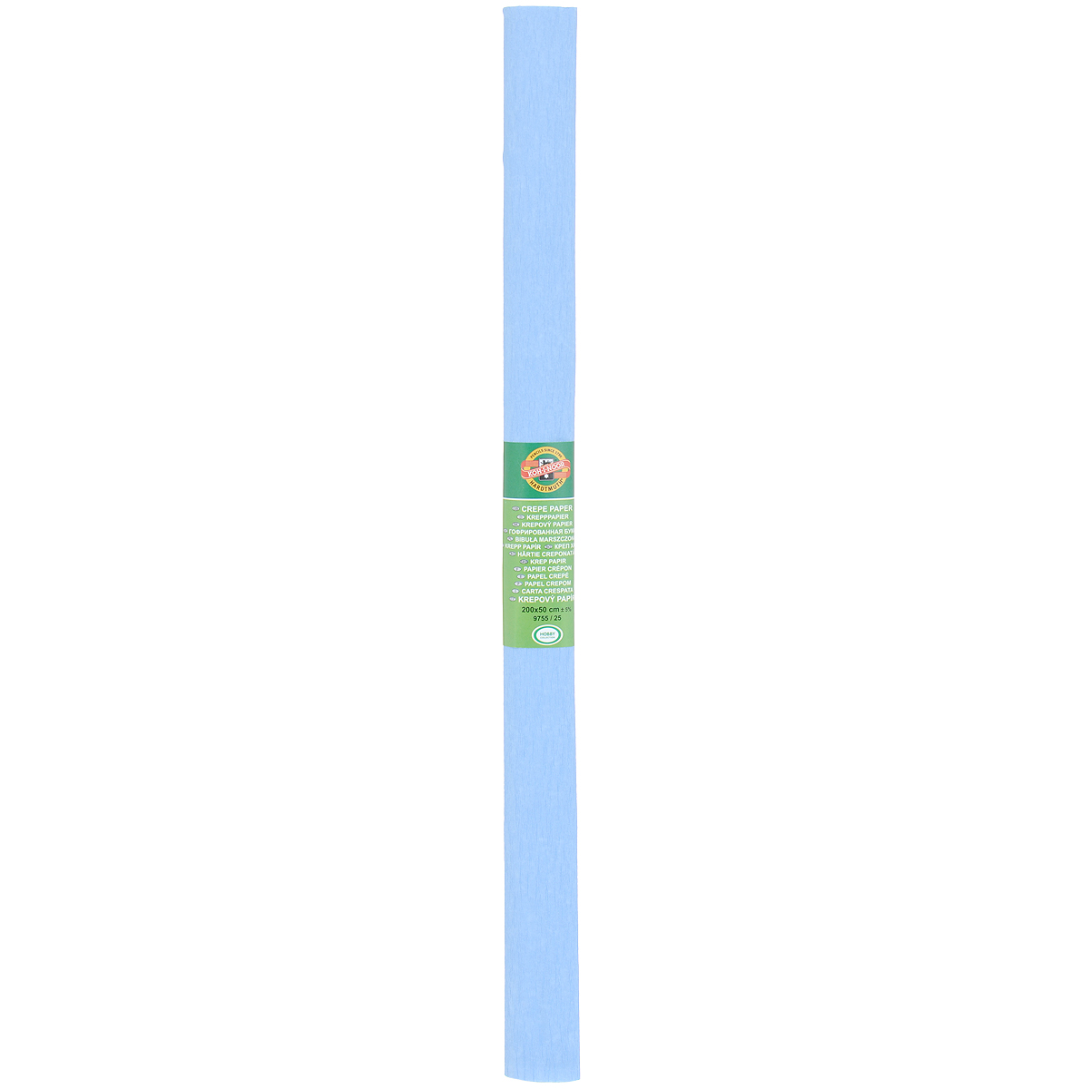 Бумага гофрированная Koh-I-Noor, цвет: голубой, 50 см x 2 мSS 4041Гофрированная бумага Koh-I-Noor - прекрасный материал для декорирования, изготовления эффектной упаковки и различных поделок. Бумага прекрасно держит форму, не пачкает руки, отлично крепится и замечательно подходит для изготовления праздничной упаковки для цветов.