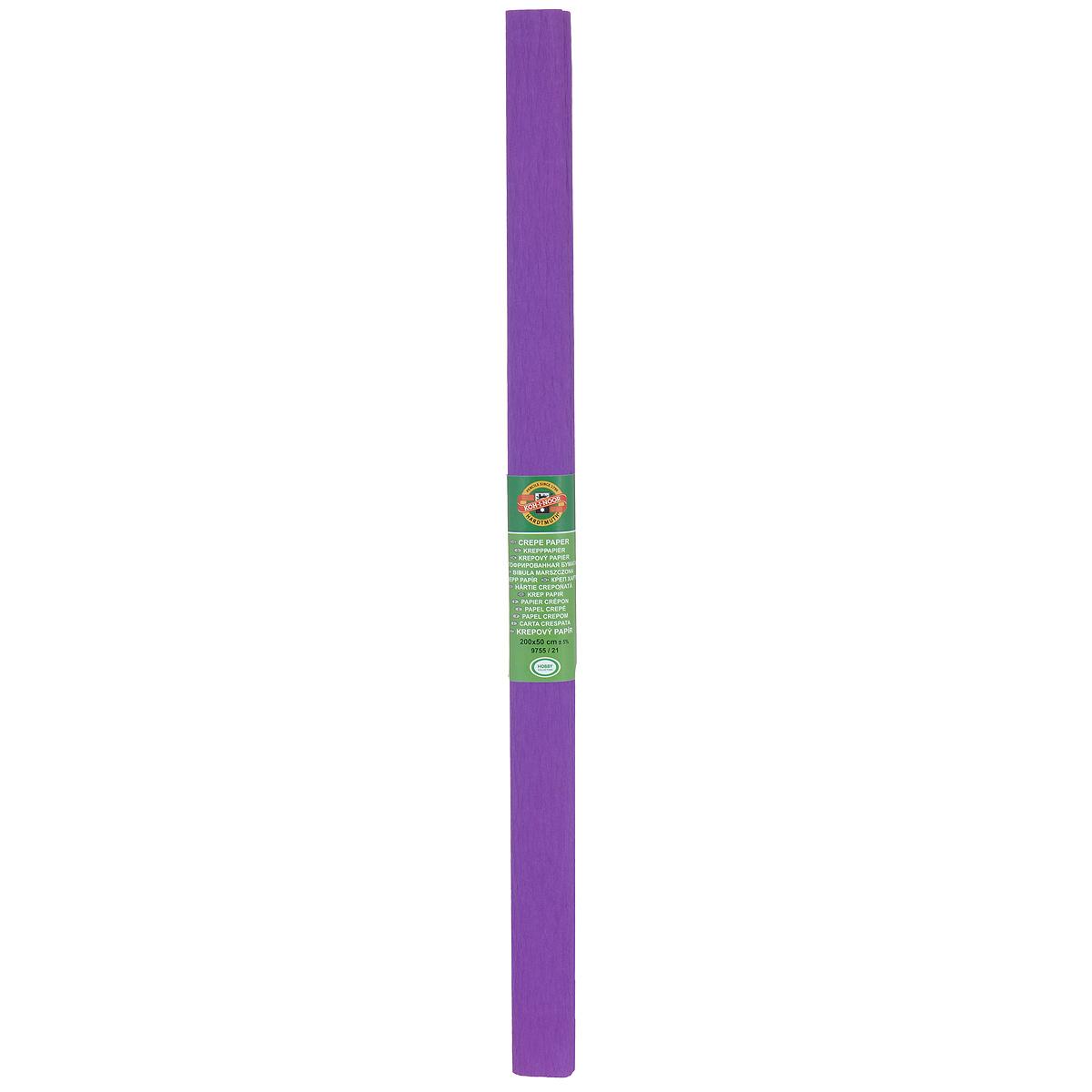 Бумага гофрированная Koh-I-Noor, цвет: фиолетовый, 50 см x 2 мRSP-202SГофрированная бумага Koh-I-Noor - прекрасный материал для декорирования, изготовления эффектной упаковки и различных поделок. Бумага прекрасно держит форму, не пачкает руки, отлично крепится и замечательно подходит для изготовления праздничной упаковки для цветов.
