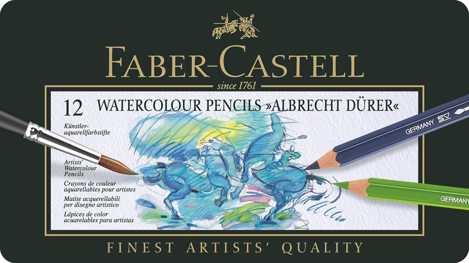 Акварельныекарандаши ALBRECHT DURER®, набор цветов, в металлической коробке, 12 шт.117512В наборе карандаши 12 цветов: белый, желтый, оранжевый, красный, фиолетовый, голубой, синий,зеленый, салатовый, бежевый, коричневый, черный. Вид карандаша: Акварельный.Материал: дерево.