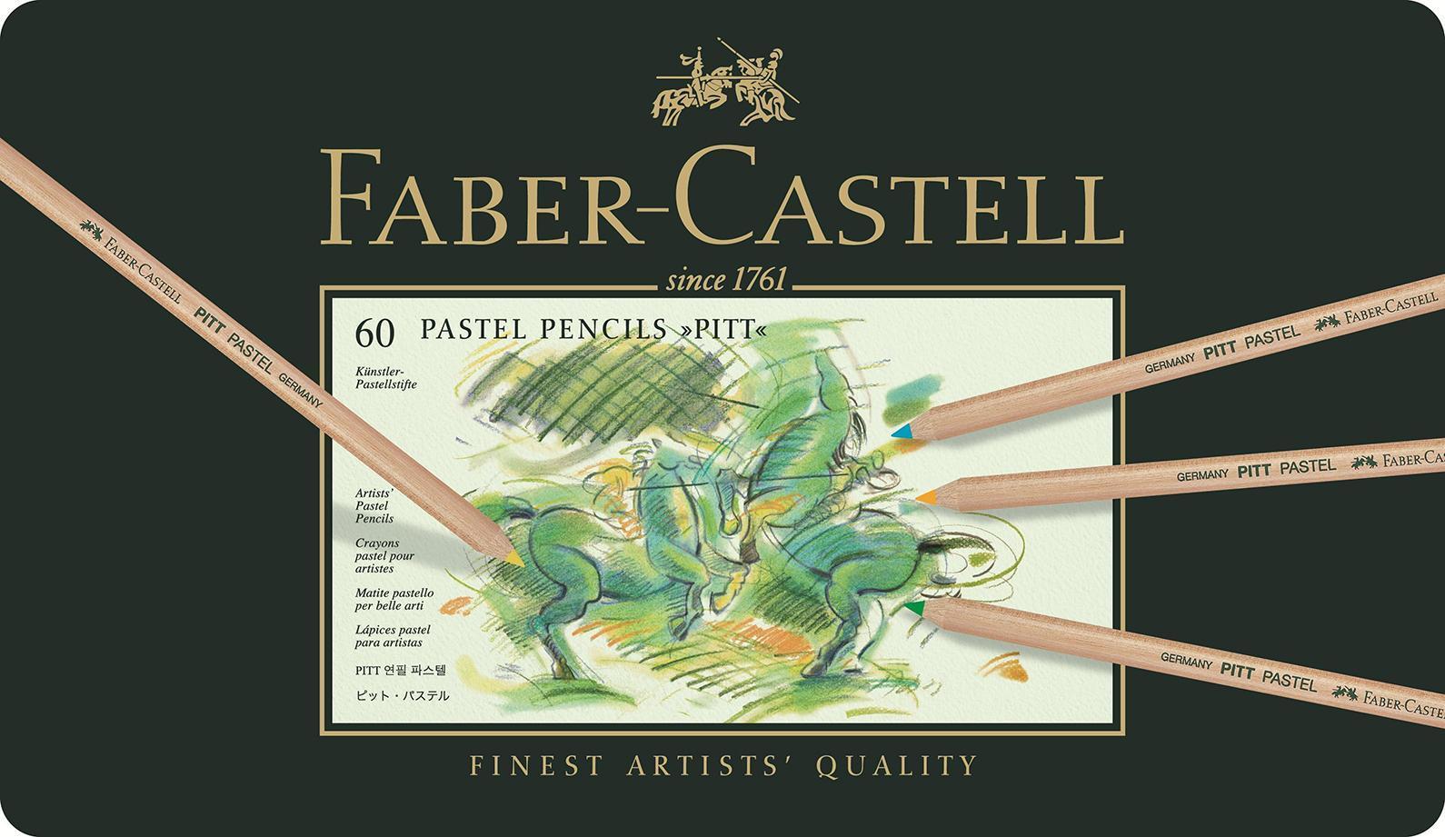 Пастельные карандаши PITT®, набор цветов, в металлической коробке, 60 шт.112160Вид карандаша: цветной.Материал: дерево.