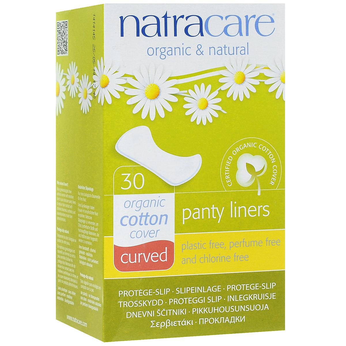 Natracare Ежедневные прокладки Curved, 30 штНС000Прокладки Natracare Curved, повторяющие анатомическую форму тела, предназначены для ежедневного использования, чтобы защитить нижнее белье и сохранить чувство свежести. Каждая прокладка снабжена влагонепроницаемым барьером.Прокладки изготовлены из 100% Био-хлопка - экологически чистого продукта, выращенного без использования пестицидов, не содержат вредные ингредиенты, не отбелены хлором, и полностью разлагаются после применения.В производстве прокладок использовался биопласт - пластик нового поколения, изготовленный из кукурузного крахмала, без ГМО. Он воздухопроницаемый, но не пропускает жидкость. В противоположность обычным пластикам, биопласт изготовлен из растительных материалов и биоразлагается.Товар сертифицирован.