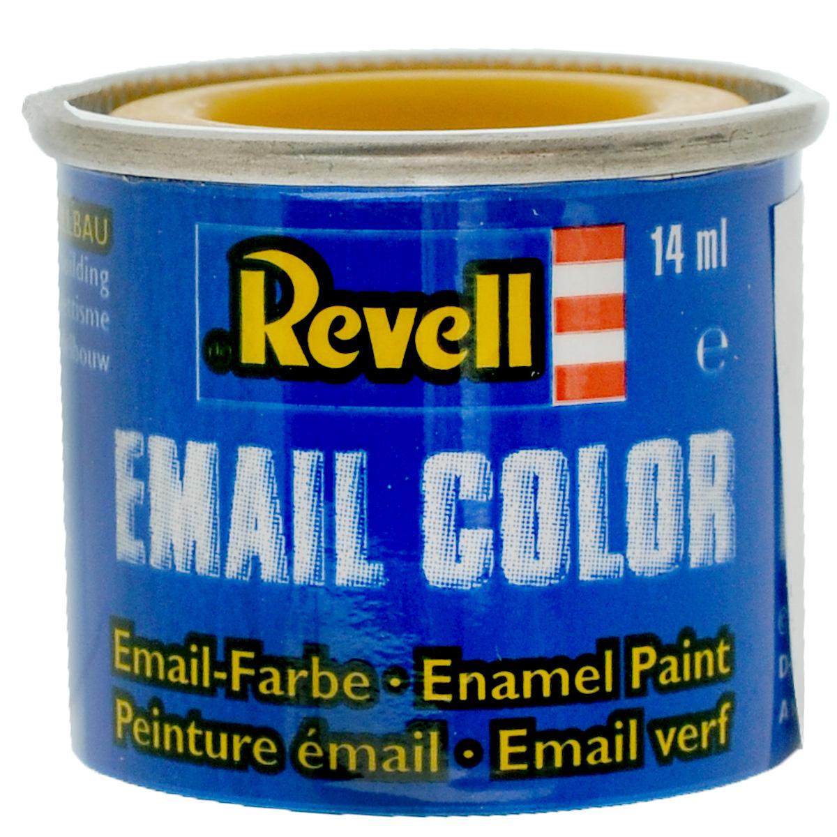 """Матовая краска """"Revell"""" желтого цвета широко используется для окраски сборных моделей машин, кораблей и самолетов. После полного высыхания базового покрытия можно наносить узор с помощью других цветных красок. Краска упакована в металлическую баночку, плотно закрывающуюся крышкой, что позволяет избежать высыхания краски. Объем краски: 14 мл."""