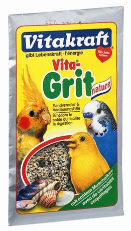 Песок для птиц Vitakraft Vita Grit Nature, 50 г0120710Натуральный биопесок для птиц Vitakraft Vita Grit Nature высшего качества гарантирует: - птичью клетку без микробов, - приятный запах аниса и цитруса, - улучшает пищеварение, - регулирует обмен веществ, - отличное впитывание жидкости, - улучшает рост перьев. Применение: подсыпайте песок несколько раз в неделю, по крайней мере, 2-3 раза, чтобы предоставить вашим животным чистый без запаха дом и сделать основные минералы доступными в любое время.