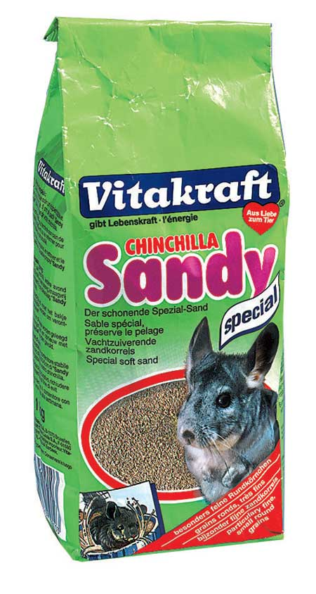 Песок для шиншилл Vitakraft Chinchilla Sandy, 1 кгП-1017Специальный песок для шиншилл Vitakraft Chinchilla Sandy сохраняет вашему любимцу легкую и чистую шерсть. Песок состоит из мелкого, специально обработанного песка. Применение: песок насыпается в специальный ящик (слой 3-5 см) и дается животному на 30 минут один раз в день, после чего убирается, песок подлежит полной замене после недели использования. Состав: песок, без искусственных красителей и консервантов. Товар сертифицирован.
