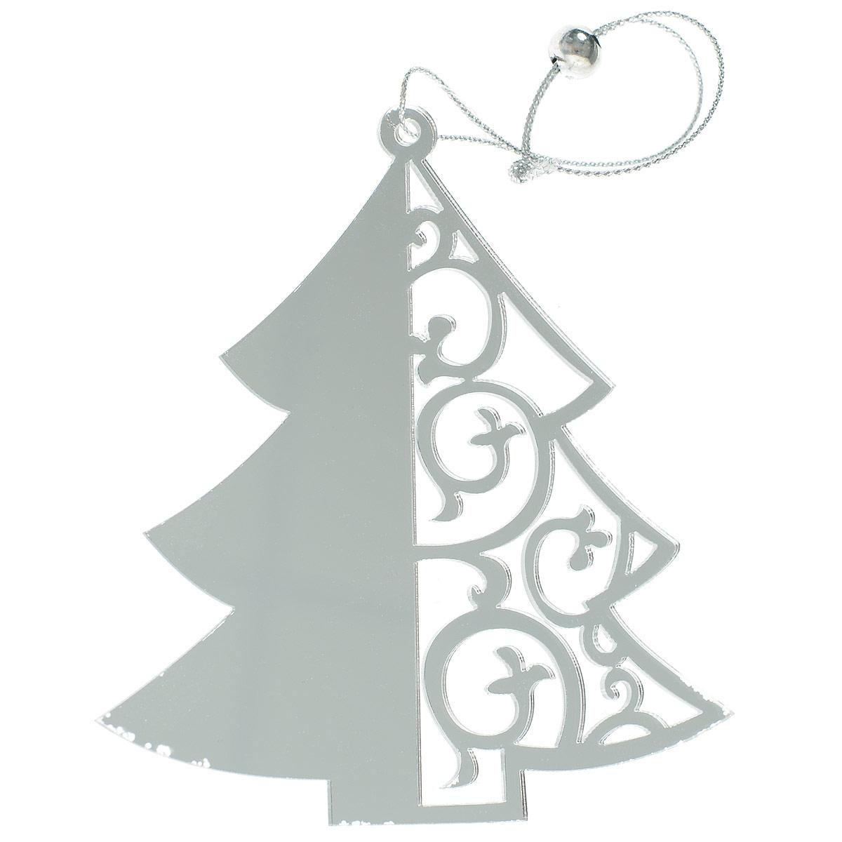 Новогоднее подвесное украшение Елка, цвет: серебристый. 7029935506Новогоднее украшение Елка отлично подойдет для декорации вашего дома и новогодней ели. Игрушка выполнена из пластика в виде узорной новогодней елочки. Украшение оснащено специальной текстильной петелькой для подвешивания. Елочная игрушка - символ Нового года. Она несет в себе волшебство и красоту праздника. Создайте в своем доме атмосферу веселья и радости, украшая всей семьей новогоднюю елку нарядными игрушками, которые будут из года в год накапливать теплоту воспоминаний.