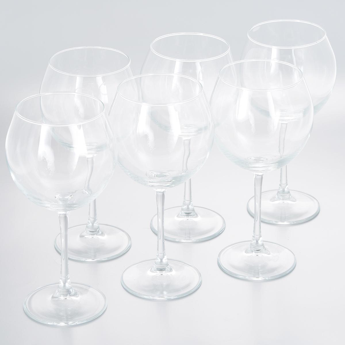 Набор фужеров для вина Pasabahce Enoteca, 630 мл, 6 штVT-1520(SR)Набор Pasabahce Enoteca состоит из шести фужеров на длинных ножках, выполненных из прочного натрий-кальций-силикатного стекла. Фужеры излучают приятный блеск и издают мелодичный звон. Предназначены для красного и белого вина. Набор фужеров Pasabahce Enoteca прекрасно оформит праздничный стол и станет хорошим подарком к любому случаю. Можно мыть в посудомоечной машине и использовать в микроволновой печи.