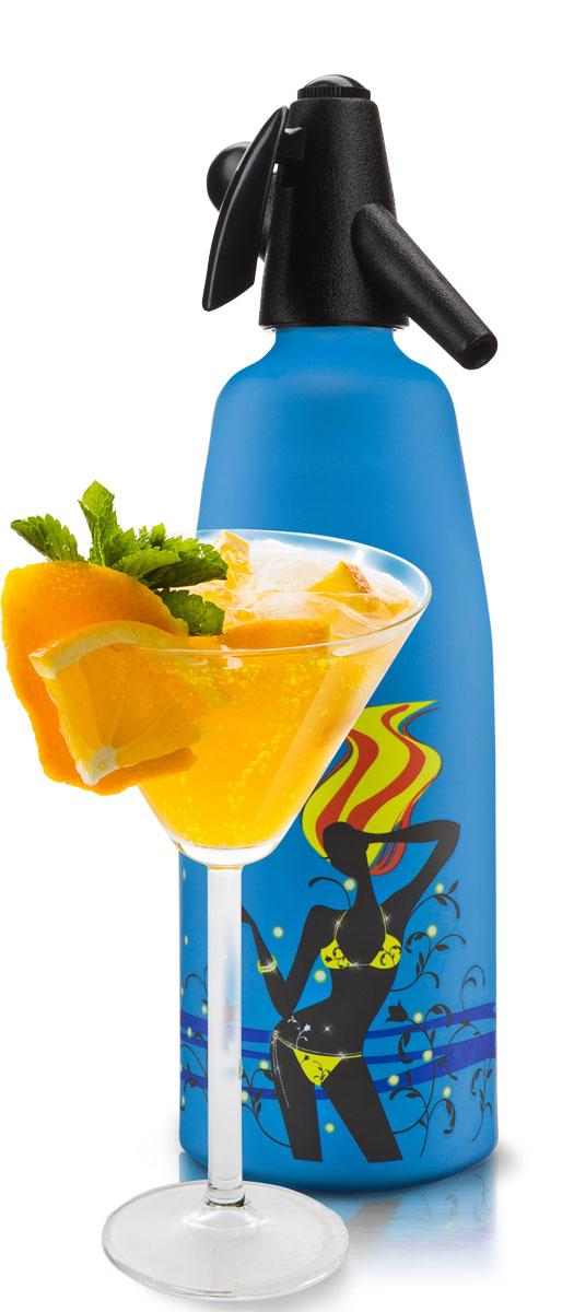 Сифон O!range Fusion, цвет: синий матовый, 1 л. AM-210ACBAM-210ACBCифон O!range предназначен для приготовления газированной воды, напитков и коктейлей. С помощью сифона для газирования воды O!range можно быстро и легко готовить натуральные и очень вкусные напитки и коктейли.Стильный дизайн и актуальные цвета делают сифоны O!range незаменимыми на любой кухне - в квартире и в загородном доме, на даче и в офисе. ПЕЙТЕ натуральные напиткиГотовьте натуральную газировку без красителей и консервантов. Используйте ключевую воду, домашнее варенье, компоты, фрукты и другие натуральные продукты. Не бойтесь экспериментировать. ЭКОНОМЬТЕ свои деньгиВам больше не нужно покупать газированную воду и напитки в магазине.Для приготовления газированной воды вам потребуется сифон O!range и вода из под крана, очищенная бытовым фильтром. ИСПОЛЬЗУЙТЕ дома и на дачеСифон для газирования воды O!range прост и удобен в применении. Вы всегда сможете приготовить освежающий напиток за несколько секунд. ЗАБОТЬТЕСЬ о природеИспользуя сифон O!range, вы избегаете покупок газированной воды и напитков в пластиковой упаковке. Чем меньше пластика мы используем, тем меньше мы загрязняем окружающую среду. ДАРИТЕ близкимСифон для газирования воды O!range - это стильный подарок в дизайнерской упаковке. Он создает праздник и отличное настроение. Порадуйте своих близким незаурядным подарком. ВНИМАНИЕ: C помощью сифона O!range можно газировать только чистую воду. Напиток или коктейль необходимо смешивать в отдельной емкости, так как емкость сифона предназначена только для газирования воды. ЧТО НОВОГО: Толстые стенки алюминиевого сосуда, широкий удобный рычаг, улучшенный пластик, прокладки и клапан, новые цвета, противоскользящее покрытие, удобная инструкция в картинках, подарочная дизайнерскаяупаковка. Рецепт домашней газировки. Напиток готовится 30 секунд! Газируйте воду с помощью сифона.Наполните бокал газированной водой из сифона.Добавьте в бокал 1-2 столовых ложки любого кисло-сладкого домашнего варенья.Иде