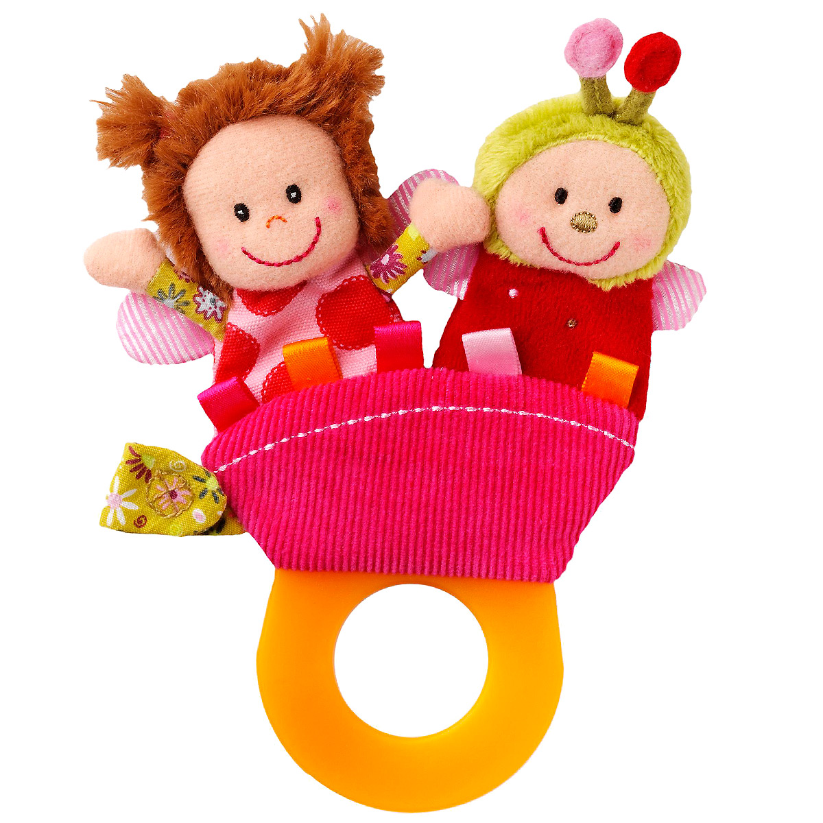 Lilliputiens Погремушка-прорезыватель Божья коровка Лиза мягкие игрушки lilliputiens божья коровка лиза
