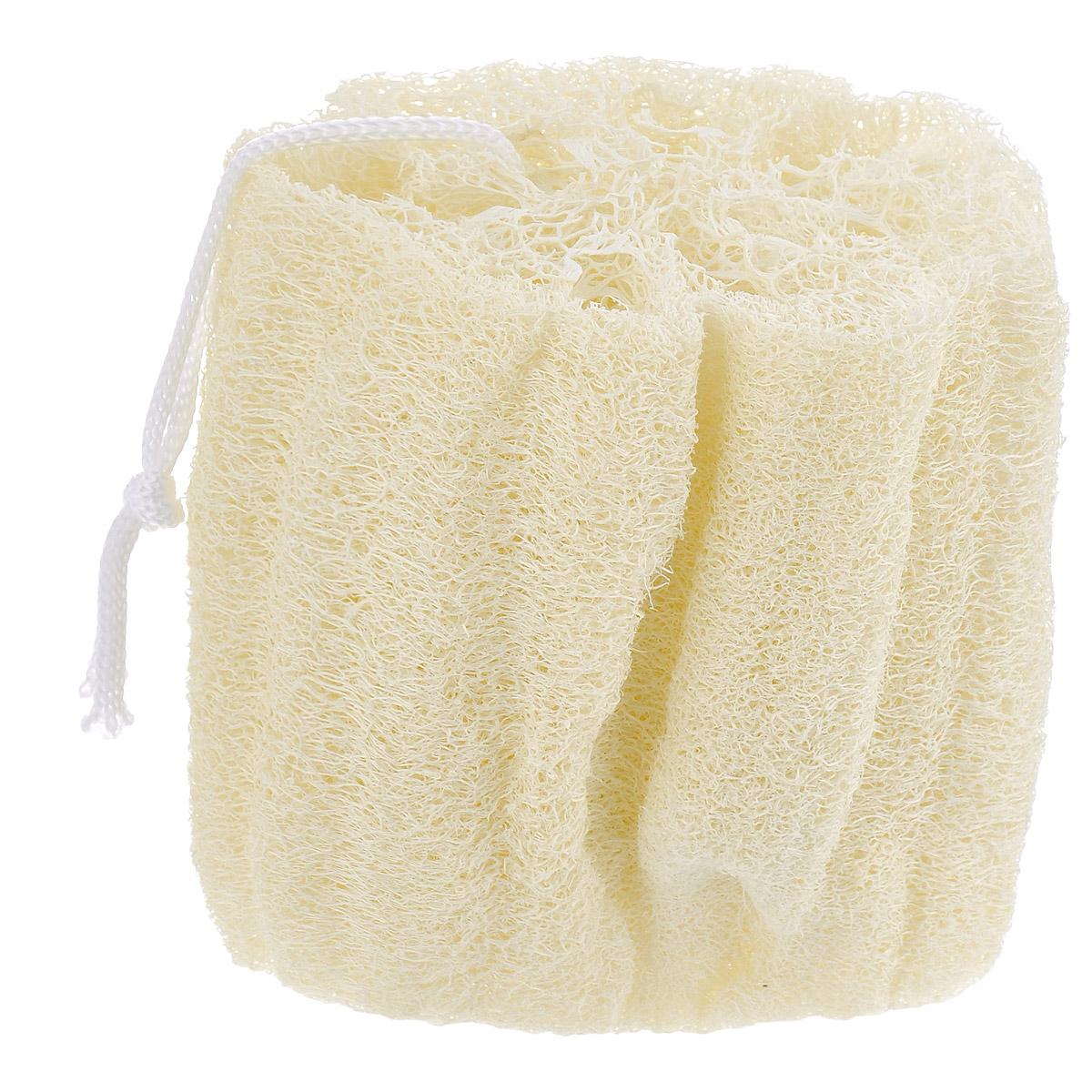Мочалка из люфы Eva. М22М22Натуральная мочалка с петлей Eva станет незаменимым аксессуаром ванной комнаты. Отлично пенится и быстро сохнет.Мочалка изготовлена из плодов люфы, благодаря чему она сохраняет все ценные свойства этого растения. Мочалка обладает массажным эффектом, она эффективно тонизирует и очищает кожу. Идеальна для профилактики и борьбы с целлюлитом. Подходит для всех типов кожи. Не вызывает аллергии.