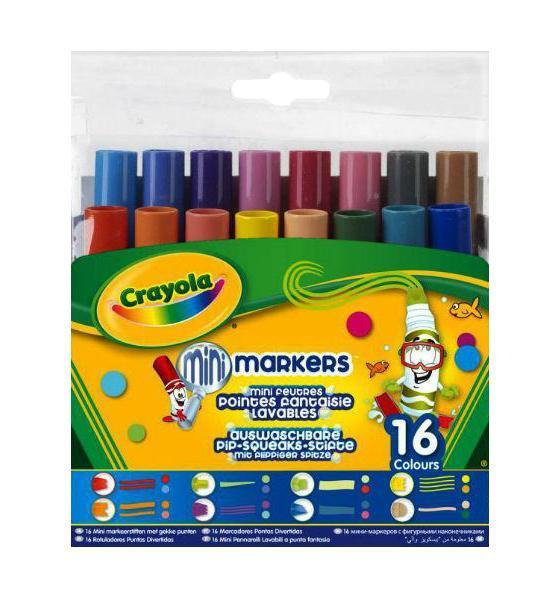 16 мини-фломастеров с узорными наконечникамиFS-0010216 мини-фломастеров с узорными наконечниками – это то, что нужно любому юному художнику! Обладая шестнадцатью разными цветами, вы можете нарисовать и оформить что угодно. Тем более, что в наборе представлено 8 разных видов наконечников фломастеров – выводите по одной, две, три, четыре линии за раз, украшайте свой рисунок цветными многоугольниками, наклонными полосами и т.д.
