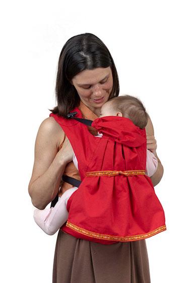 Слинг-рюкзак Чудо-Чадо Дочкомобиль, цвет: красный