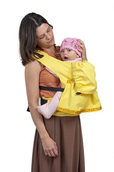Слинг-рюкзак Чудо-Чадо Дочкомобиль, цвет: желтый