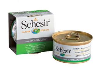 Консервы для кошек Schesir, с цыпленком в собственном соку, 85 г0120710Консервы Schesir - это полнорационный корм для кошек. Состав: куриное филе 57%, рис 1,2%.Анализ состава: белок 14%, масла и жиры 0,5%, клетчатка 0,5%,минеральные вещества 1,5%, влажность 83%.Витамины: А - 1325МЕ, D3 - 110МЕ, Е - 15 мг, таурин 160 мг.Вес: 85 г.