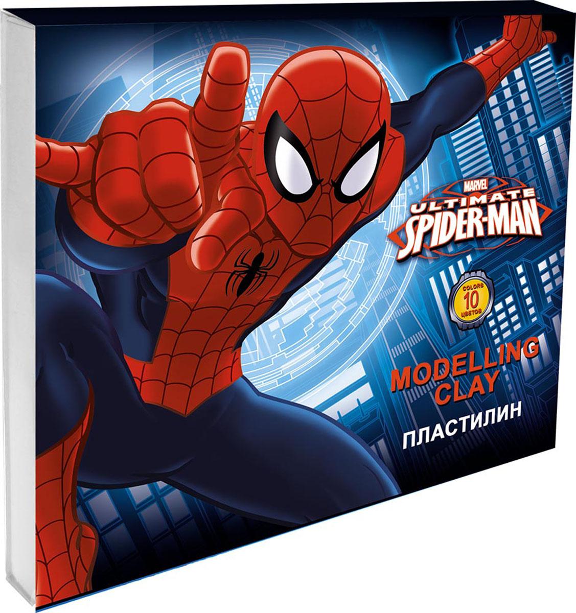 Пластилин Spider-Man, 10 цветов пластилин spider man 10 цв