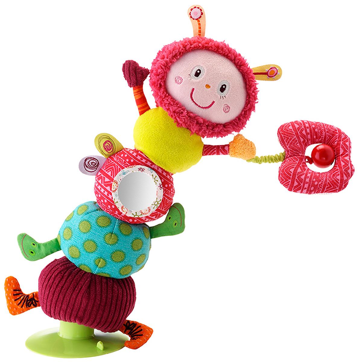 Lilliputiens Развивающая игрушка на присоске Гусеница Джульетта мягкие игрушки lilliputiens гусеница джульетта