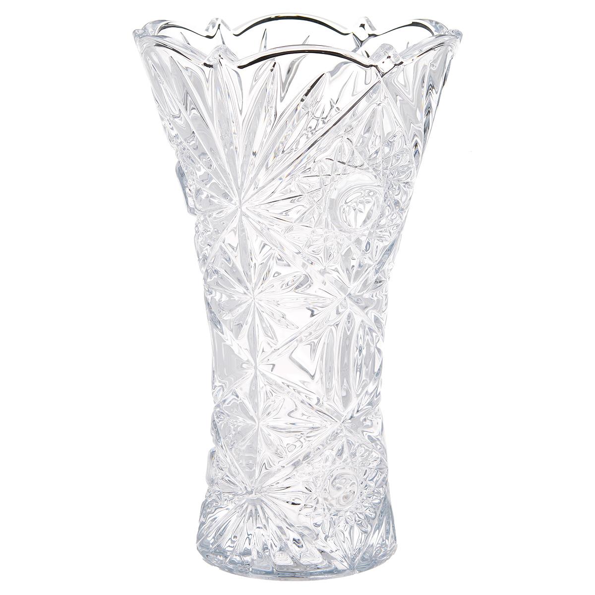Ваза Crystalite Bohemia Тукана-Миранда, высота 20,5 смАС 04120/0160/АА-D823Изящная ваза Crystalite Bohemia Тукана-Миранда изготовлена из прочного утолщенного стекла кристалайт. Она красиво переливается и излучает приятный блеск. Ваза оснащена оригинальным рельефным орнаментом и неровными краями, что делает ее изящным украшением интерьера. Ваза Crystalite Bohemia Тукана-Миранда дополнит интерьер офиса или дома и станет желанным и стильным подарком.