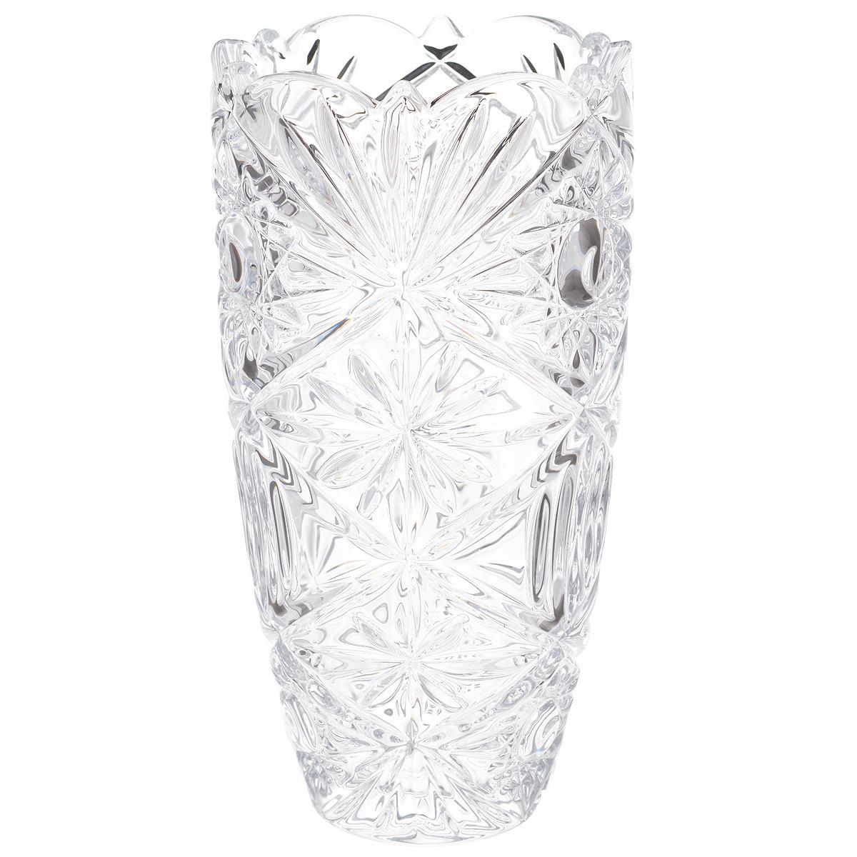 Ваза Crystalite Bohemia Тукана-Миранда, высота 20 см825264Изящная ваза Crystalite Bohemia Тукана-Миранда изготовлена из прочного утолщенного стекла кристалайт. Она красиво переливается и излучает приятный блеск. Ваза оснащена оригинальным рельефным орнаментом и неровными краями, что делает ее изящным украшением интерьера. Ваза Crystalite Bohemia Тукана-Миранда дополнит интерьер офиса или дома и станет желанным и стильным подарком.