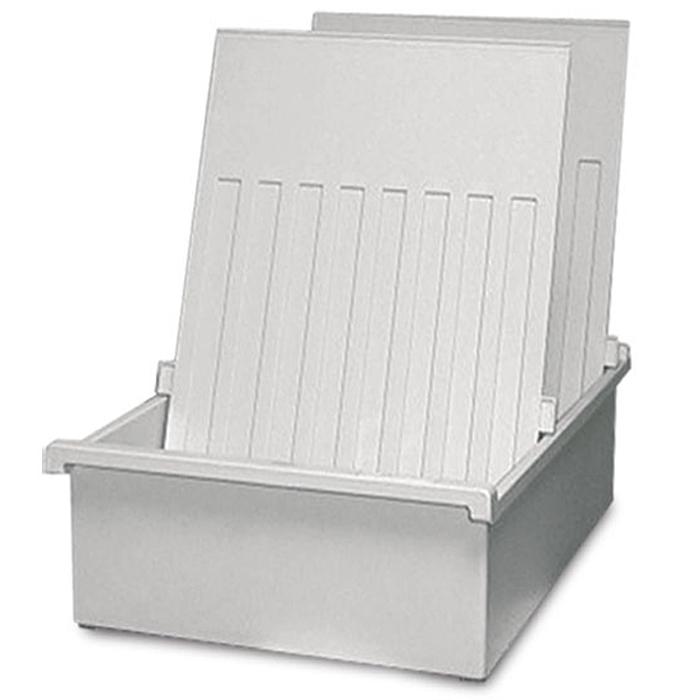 Лоток для бумаг горизонтальный HAN, цвет: светло-серый, формат А4. HA954-0/11FS-00610Горизонтальный лоток для бумаг HAN поможет вам навести порядок на столе и сэкономить пространство. Лоток подойдет для карточек формата А4 и меньше.Лоток состоит из 3 вместительных секций, и, благодаря оригинальному дизайну и классической форме, органично впишется в любой интерьер. В комплект входят 2 пластиковых съемных разделителя, всего лоток оснащен вырубками для 26 разделителей. Таким образом, можно изменять размер секций, что позволяет настроить лоток так, как будет удобно именно вам.Лоток изготовлен из антистатического ударопрочного пластика. Лоток имеет ножки, предотвращающие скольжение по столу и обеспечивающие необходимую устойчивость.Благодаря лотку для бумаг, важные бумаги и документы не потеряются и всегда будут под рукой.