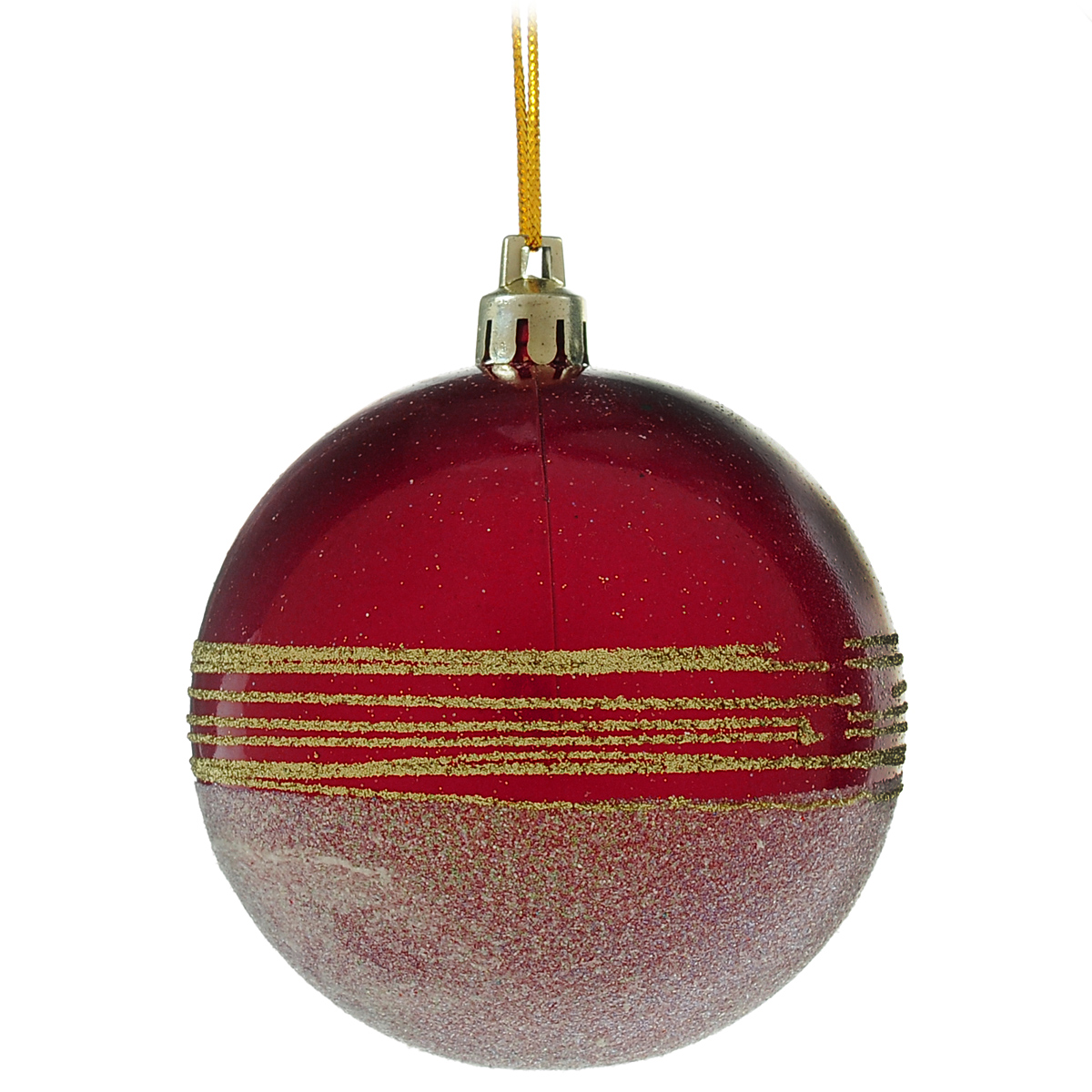 Новогоднее подвесное украшение Шар. DB13056702584Новогоднее подвесное украшение Шар выполнено из высококачественного пластика и декорировано блестками. С помощью специальной текстильной петельки украшение можно повесить в любом понравившемся вам месте. Но, конечно, удачнее всего такой шар будет смотреться на праздничной елке.Елочная игрушка - символ Нового года. Она несет в себе волшебство и красоту праздника. Создайте в своем доме атмосферу веселья и радости, украшая новогоднюю елку нарядными игрушками, которые будут из года в год накапливать теплоту воспоминаний.
