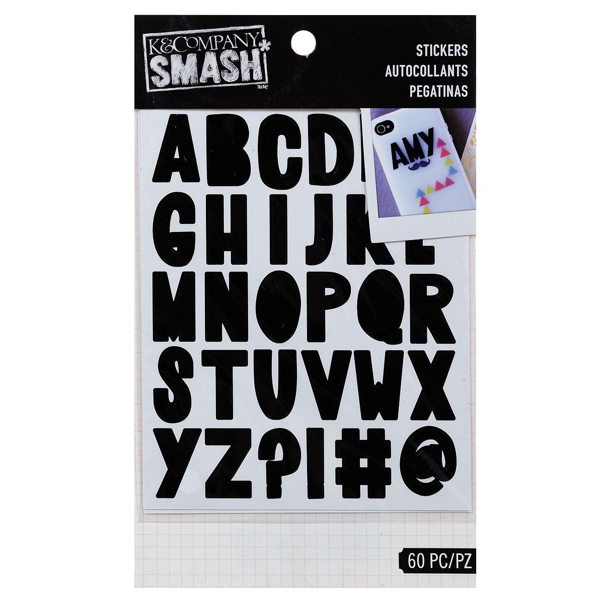 Стикеры-украшения K&Company Алфавит, 60 шт0703415Материал: бумага. Средний размер стикеров: 2,2 см х 1,3 см. Комплектация: 60 шт.