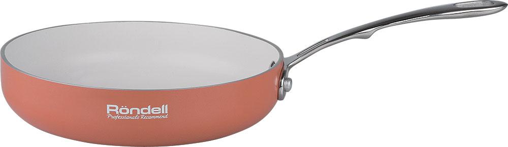 Набор посуды Rondell Terrakotte, 2 предмета + ПОДАРОК: Сковорода Rondell Terrakotte, с антипригарным покрытием. Диаметр 20 см115510Набор посуды Rondell Terrakotte состоит из двух сковородок разного диаметра. Изделия выполнены из высококачественного штампованного алюминия. Внешнее покрытие - эмаль оранжевого цвета. Внутреннее трехслойное антипригарное покрытие Silkware от Daikin абсолютно безвредно, так как не содержит вредной примеси PFOA. Покрытие отличается долговечностью и позволяет готовить без добавления масла и жиров, что обеспечивает приготовление здоровой пищи. Посуда оснащена эргономичными ненагревающимися ручками из клепаной нержавеющей стали.Подходит для использования на всех типах плит: газовых, электрических, стеклокерамических, галогенных. Не подходит для индукционных плит. Можно мыть в посудомоечной машине.Сочетание внутреннего и внешнего покрытия изысканных цветов сделает вашу кухню неповторимой.В подарок прилагается сковорода Сковорода Rondell Terrakotte.