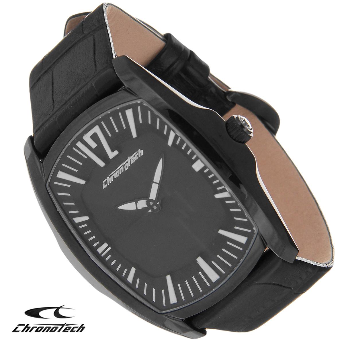 Часы мужские наручные Chronotech, цвет: черный. CT.7219M/0371069с-2Часы Chronotech - это часы для современных и стильных людей, которые стремятся выделиться из толпы и подчеркнуть свою индивидуальность. Корпус часов выполнен из нержавеющей стали с PVD-покрытием. Циферблат оформлен отметками и защищен минеральным стеклом. Часы имеют две стрелки - часовую и минутную. Стрелки светятся в темноте. Ремешок часов выполнен из натуральной кожи и застегивается на классическую застежку. Часы упакованы в фирменную коробку с логотипом компании Chronotech. Такой аксессуар добавит вашему образу стиля и подчеркнет безупречный вкус своего владельца.Характеристики: Размер циферблата: 3 см х 4 см.Размер корпуса: 4 см х 5 см х 1 см.Длина ремешка (с корпусом): 23,5 см.Ширина ремешка: 2 см.