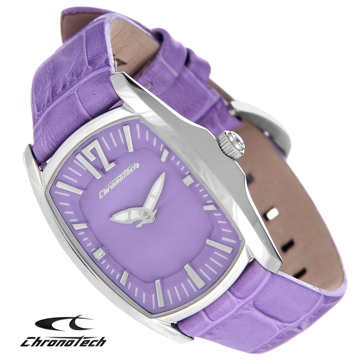 Часы женские наручные Chronotech, цвет: сиреневый. CT.7219L/07BM8434-58AEЧасы Chronotech - это часы для современных и стильных девушек, которые стремятся выделиться из толпы и подчеркнуть свою индивидуальность. Корпус часов выполнен из нержавеющей стали. Циферблат оформлен отметками и защищен минеральным стеклом с огранкой. Часы имеют две стрелки - часовую и минутную. Стрелки светятся в темноте. Ремешок часов выполнен из натуральной кожи с тиснением и застегивается на классическую застежку. Часы упакованы в фирменную коробку с логотипом компании Chronotech. Такой аксессуар добавит вашему образу стиля и подчеркнет безупречный вкус своей владелицы.Характеристики: Размер циферблата: 2,1 см х 2,9 см.Размер корпуса: 3 см х 3,6 см х 0,9 см.Длина ремешка (с корпусом): 21 см.Ширина ремешка: 1,5 см.