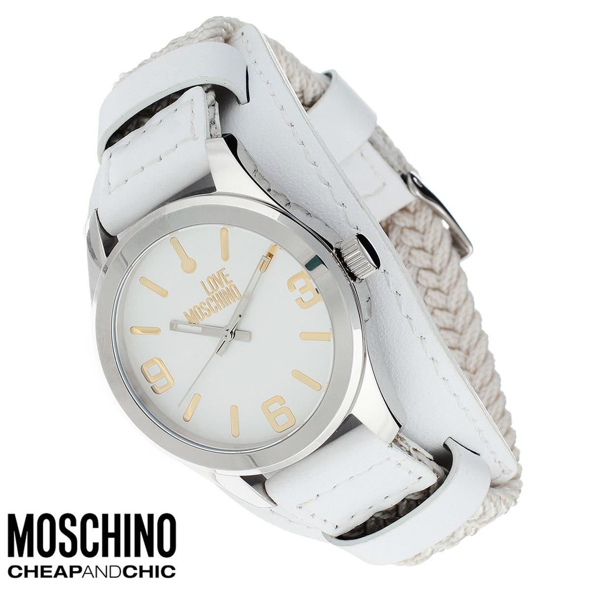 Часы женские наручные Moschino, цвет: белый, серебристый. MW0415BM8241-01EEНаручные часы от известного итальянского бренда Moschino - это не только стильный и функциональный аксессуар, но и современные технологи, сочетающиеся с экстравагантным дизайном и индивидуальностью. Часы Moschino оснащены кварцевым механизмом. Корпус выполнен из высококачественной нержавеющей стали. Циферблат с отметками и арабскими цифрами оформлен надписью Love Moschino и защищен минеральным стеклом. Часы имеют три стрелки - часовую, минутную и секундную. Текстильный плетеный ремешок часов с элементами из натуральной кожи имеет классическую застежку. Часы упакованы в фирменную металлическую коробку с логотипом бренда. Часы Moschino благодаря своему уникальному дизайну отличаются от часов других марок своеобразными циферблатами, функциональностью, а также набором уникальных технических свойств.Каждой модели присуща легкая экстравагантность, самобытность и, безусловно, великолепный вкус. Характеристики:Диаметр циферблата: 3 см.Размер корпуса: 3,7 см х 4,5 см х 1 см.Длина ремешка (с корпусом): 24 см.Ширина ремешка: 2 см.