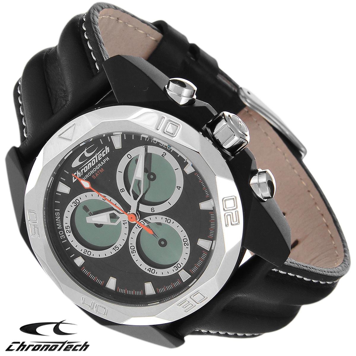 Часы мужские наручные Chronotech, цвет: черный. RW0059BM8434-58AEЧасы Chronotech - это часы для современных и стильных людей, которые стремятся выделиться из толпы и подчеркнуть свою индивидуальность. Корпус часов выполнен из нержавеющей стали с покрытием поликарбонатом. Циферблат оформлен отметками и защищен минеральным стеклом. Часы имеют три стрелки - часовую, минутную и секундную. Стрелки и отметки светятся в темноте. Часы оснащены функцией хронографа и имеют секундомер. Ремешок часов выполнен из натуральной кожи и застегивается на классическую застежку. Часы упакованы в фирменную коробку с логотипом компании Chronotech. Такой аксессуар добавит вашему образу стиля и подчеркнет безупречный вкус своего владельца.Характеристики: Диаметр циферблата: 3,3 см.Размер корпуса: 4,3 см х 4,8 см х 1,2 см.Длина ремешка (с корпусом): 24,5 см.Ширина ремешка: 2,2 см.