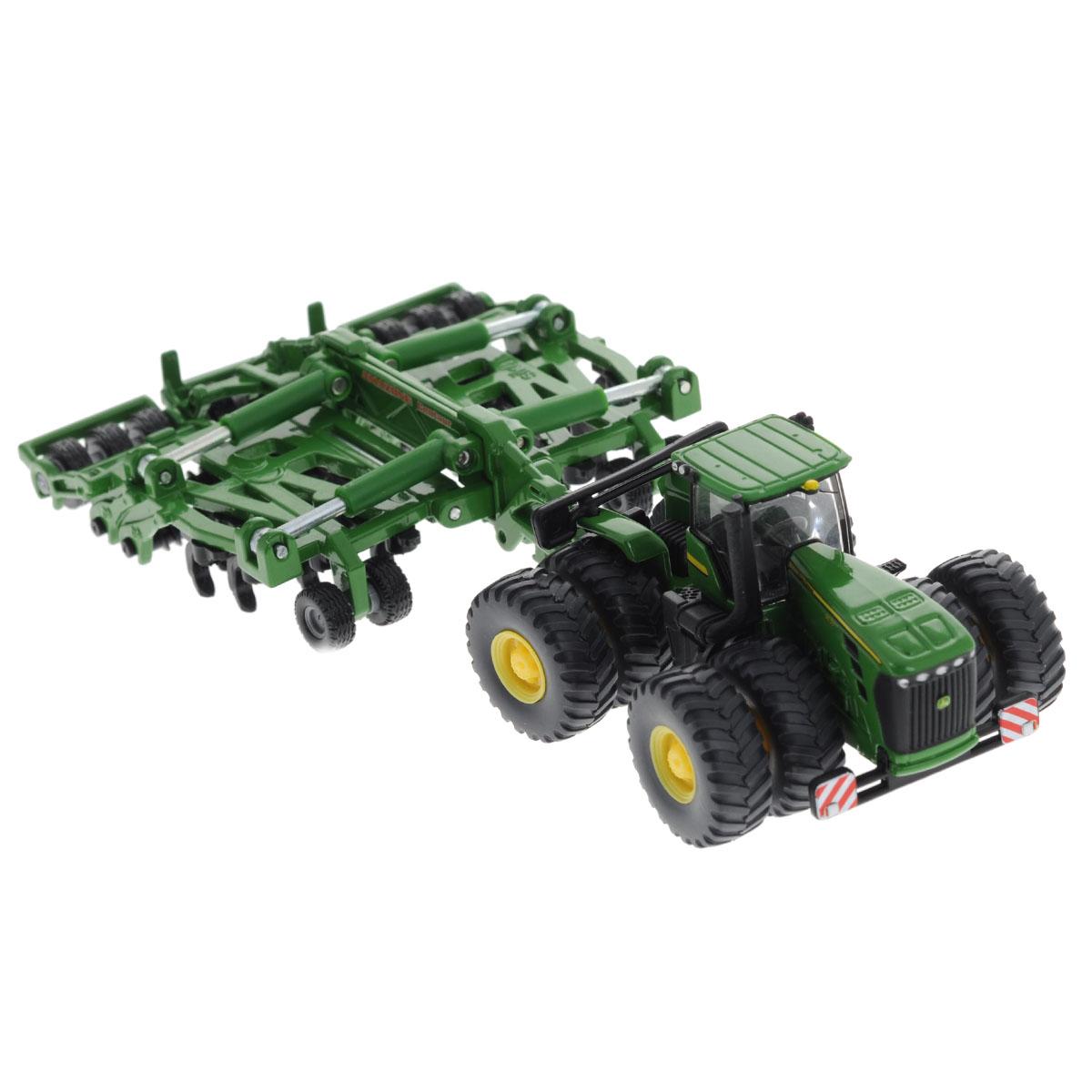 Siku Трактор John Deere 9630 c прицепом-культиватором Amazone Centaur