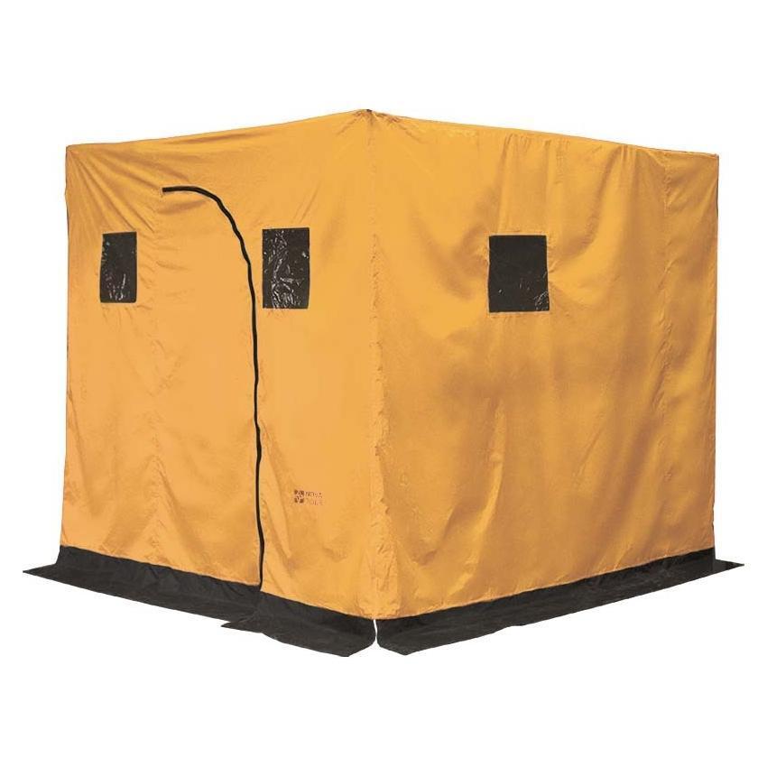 Баня походная Nova Tour, цвет: желтый, 210 см х 180 см х 180 см24068-201-00Палатка-баня Nova Tour отличного качества. Устанавливается в любом месте за считанное время. Баня не требует специальных приспособлений для установки. В качестве кольев отлично подойдут небольшие стволы деревьев. Внутри имеется огнеупорная накладка. По всему периметру платки имеется ветрозащитная юбка, которая предотвращает попадание сквозняков внутрь бани. В палатке расположены небольшие окошки. В сложенном виде имеет небольшой вес и занимает мало места.Ткань тента - Poly Taffeta 210T PU 3000.