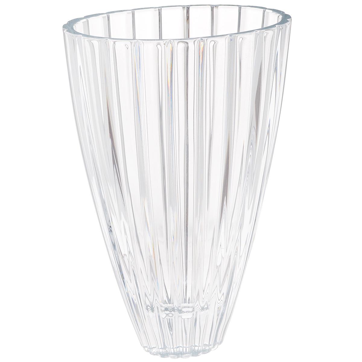 Ваза Crystalite Bohemia Овал, высота 30,5 см627983Изящная ваза Crystalite Bohemia Овал изготовлена из прочного утолщенного стекла кристалайт. Она красиво переливается и излучает приятный блеск. Ваза оснащена краями овальной формы и рельефной многогранной поверхностью, что делает ее изящным украшением интерьера. Ваза Crystalite Bohemia Овал дополнит интерьер офиса или дома и станет желанным и стильным подарком.