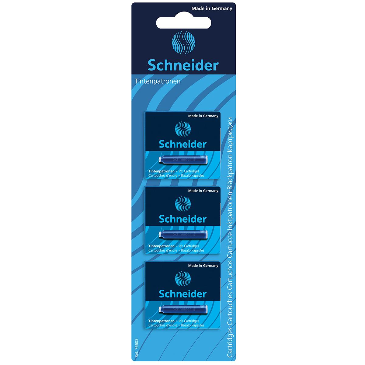 Картриджи с чернилами в стандартном размере подходят для ручек Schneider, а также для многих других марок.