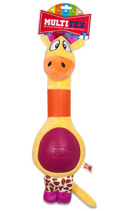 Игрушка плюшевая для собак R2P Pet Multi-tex. Жираф0120710Игрушка плюшевая для собак R2P Pet Multi-tex. Жираф- это занимательная игрушка, изготовленная из плюша и резины. Игрушка умеет пищать, выполнена в виде забавного жирафа с прорезиненной шеей и животиком.Наполнитель 100% полиэстер.Размер игрушки: 40 см х 14 см х 7 см.